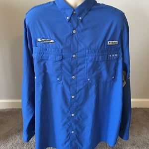 Men's Columbia PFG Transquip Button Shirt Sz XL